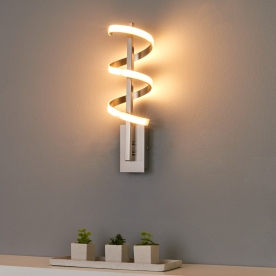 Twisted LED wall light Pierre